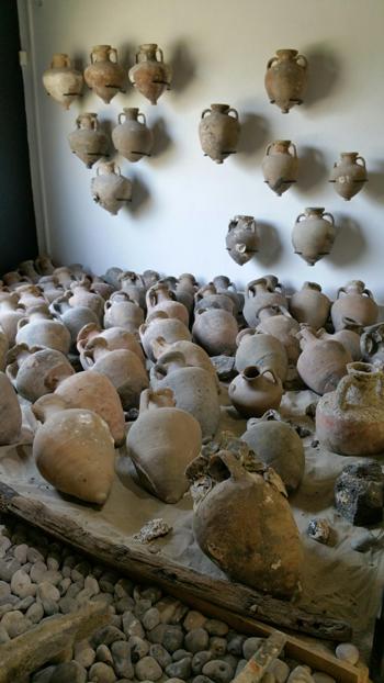 Ánforas del Museo del Efebo.