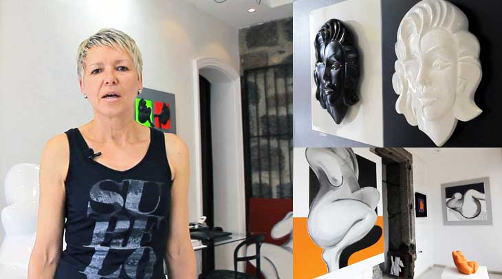 Agnès Descamps, pintura y escultora