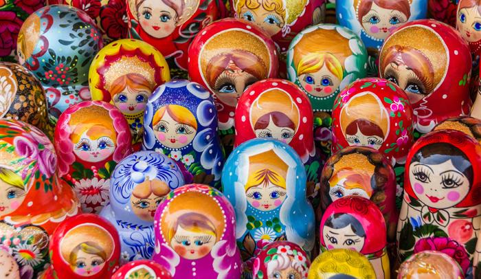 Matrioska, mamushka o muñeca rusa, uno de los regalos más típicos que se compran en este país.