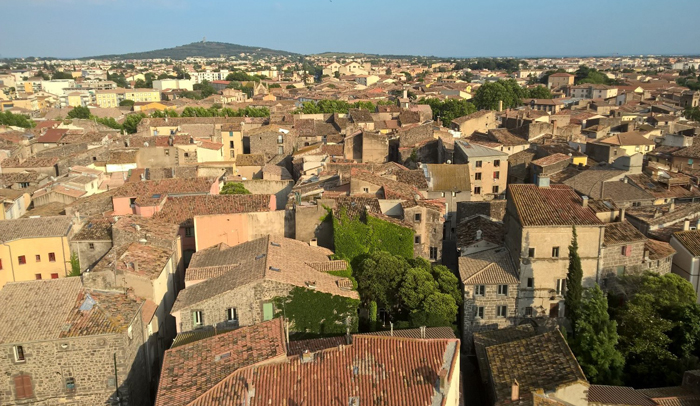 Vistas de Agde desde la catedral de Saint-Étienne.