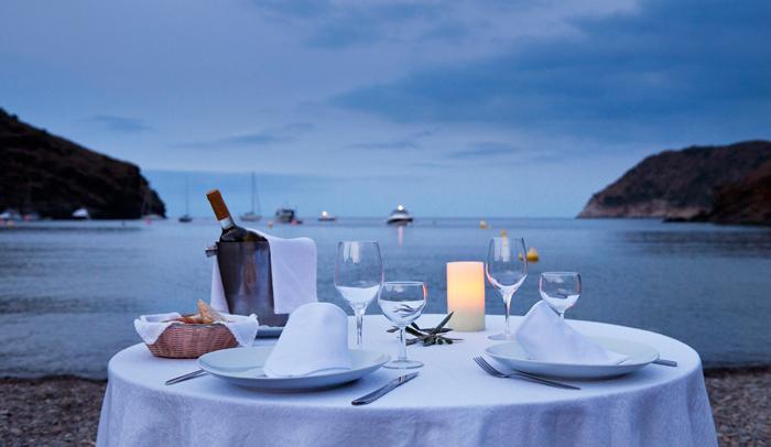 Cena con vistas a Cala Jóncols