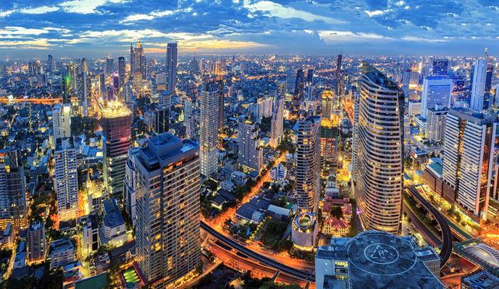 Panorámica de Bangkok, capital de Tailandia