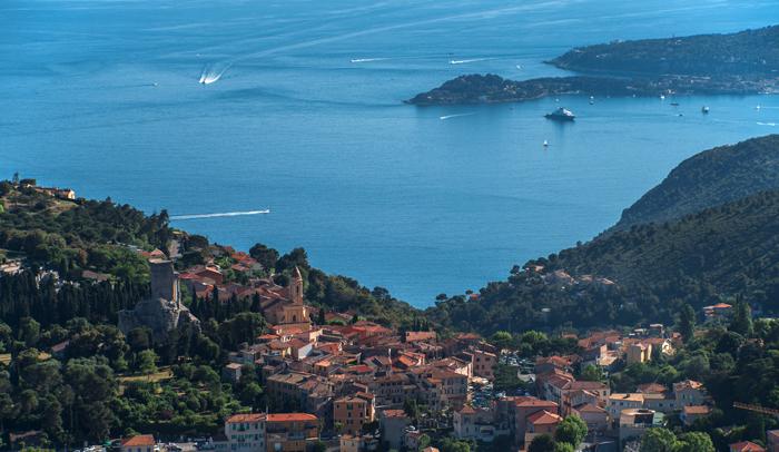 Ruta de la Turbie (Mónaco/Francia).