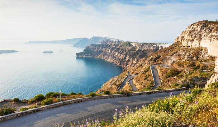 De Thera a Oia, Santorini (Grecia