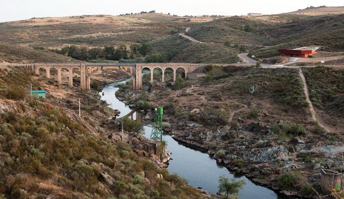 Vista general del yacimiento en el río Águeda © Pedro Guimaraes