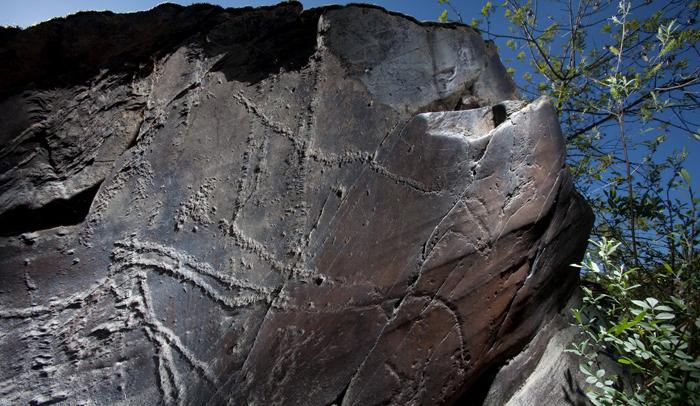 El yacimiento contiene 645 paneles, grabados sobre roca © Pedro Guimaraes