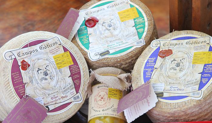 Productos de la quesería Campos Góticos