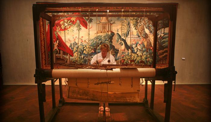 Taller de restauración de tapices. © Turismo de Malinas.
