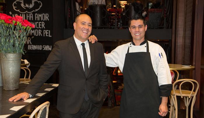 Eduardo de la Vega y Lluís Rosich, director y chef de Cachitos Rambla