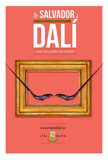 """Cartel Exposición """"De Salvador a Dalí"""""""