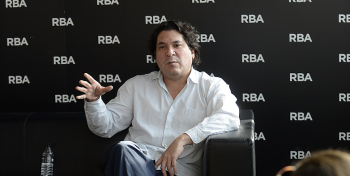 Gastón Acurio durante su charla en la Fundació RBA