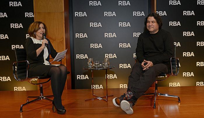 Gastón Acurio y la periodista gastronómica Cristina Jolonch