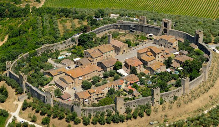 Vista área de Monteriggioni