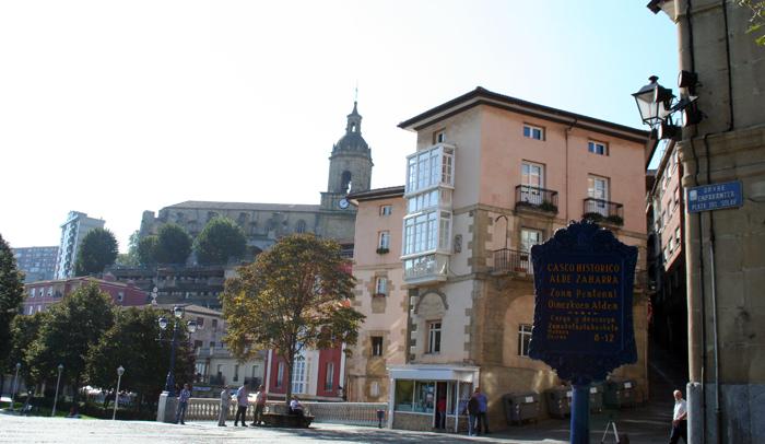 Plaza del Solar y casco histórico de Portugalete