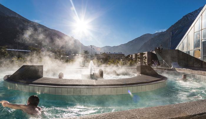 Piscina exterior de Caldea, en Andorra