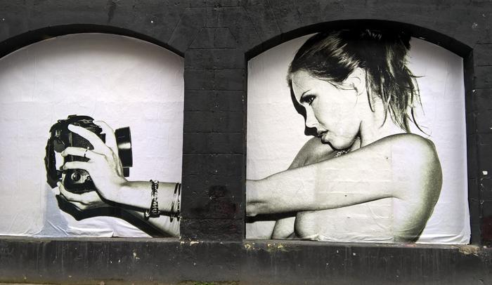 Graffitis en el barrio de Darwin