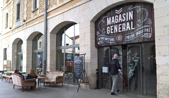 Magasin Général, el restaurante biológico más grande de Francia.