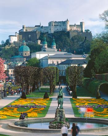 Jardines de Mirabell en Salzburgo