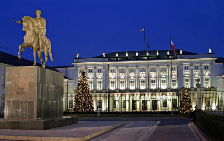 Palacio Presidencial de Varsovia/Foto Oficina Nacional de Turismo de Polonia