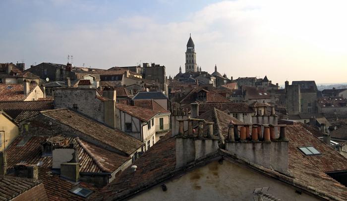 Vistas de Périgueux desde la Torre Mataguerre