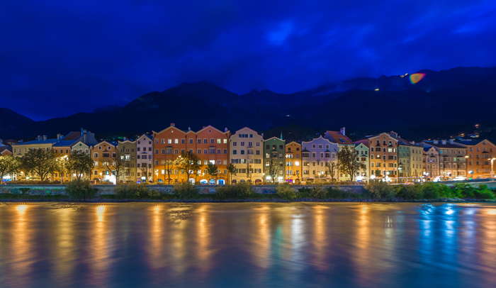 Río Inn a su paso por Innsbruck
