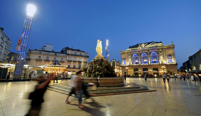 Plaza de la Comèdie, en Montpellier