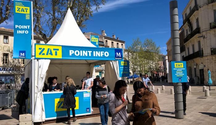 ZAT (Zonas Artísticas Temporales) sale a las calles de Montpellier dos veces al año.