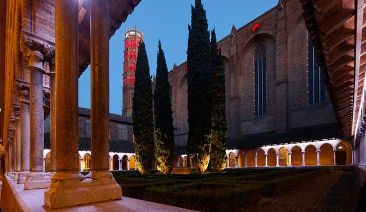 Convento de los Jacobinos iluminado. ® Patrice Nin Ville de Toulouse