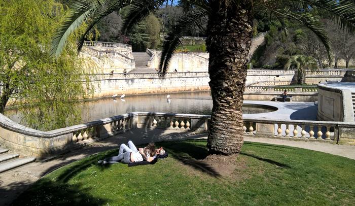 Los jardines de la Fontaines son ideales para dar un paseo o descansar