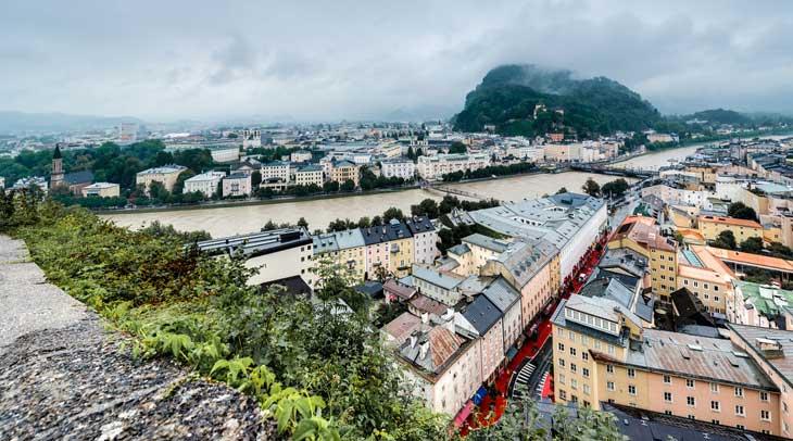 Vistas desde Mönschberg de Salzburgo © Aníbal Trejo