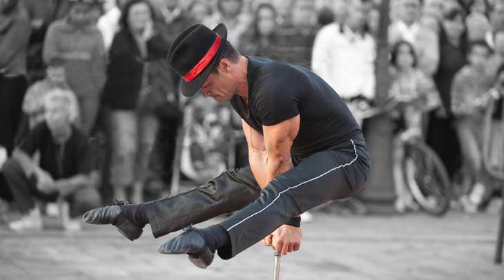 ARCA Festival Internacional de Artistas Callejeros, foto en la plaza de España