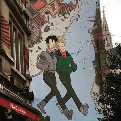 Ruta de las fachadas de cómic por Bruselas
