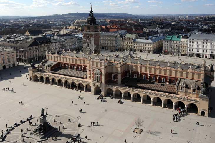 Vista aérea de la Plaza del Mercado
