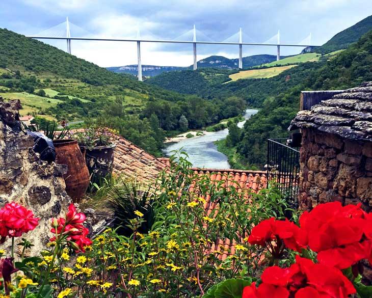 Viaducto de Millau desde Peyre
