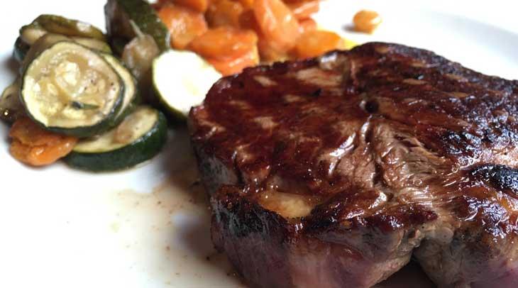 Solomillo con verduras Restaurante l'Auberge du Vieux Cahors