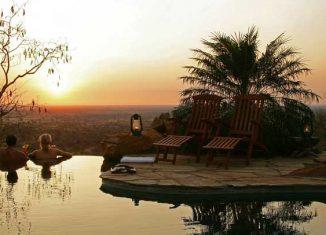 Atardecer romántico en Kenia