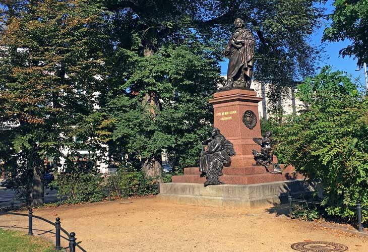 Estatua de Felix Mendelssohn