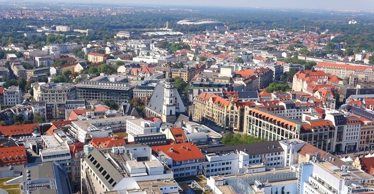 Vistas desde la terraza del City Hochhaus