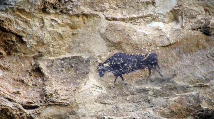 El Torico, muestra de arte rupestre en el Maestrazgo