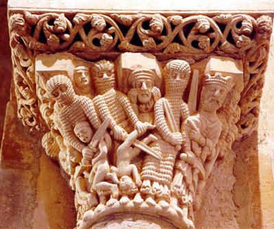 Capitel sobre la Matanza de los Inocentes de la ermita de Santa Cecilia