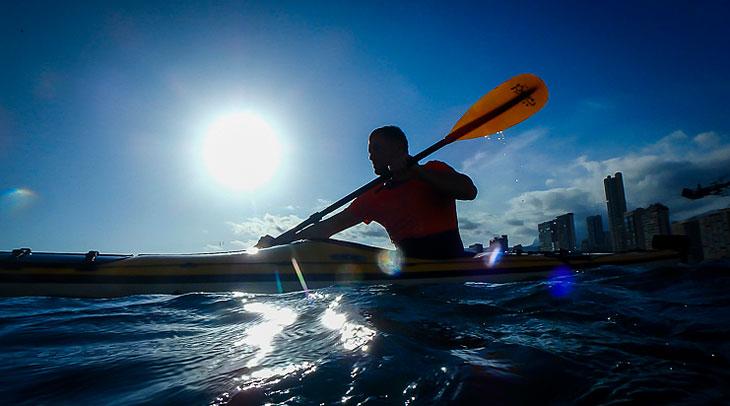 Kayak en Benidorm. Fotos Capitan Kayak.
