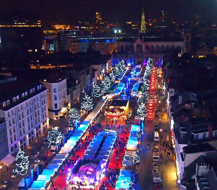 Vista del mercado de Navidad de Bruselas. Foto Marta Pintus.