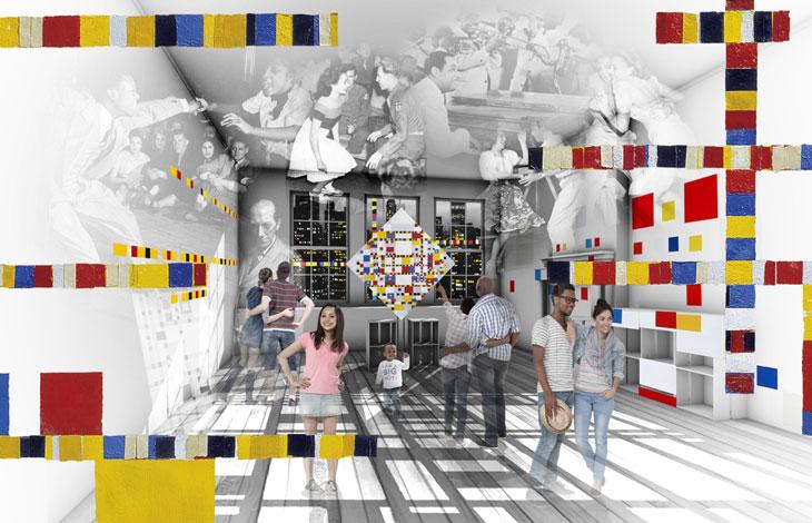 Boogie Woogie, una de las obras más famosas de Mondrian