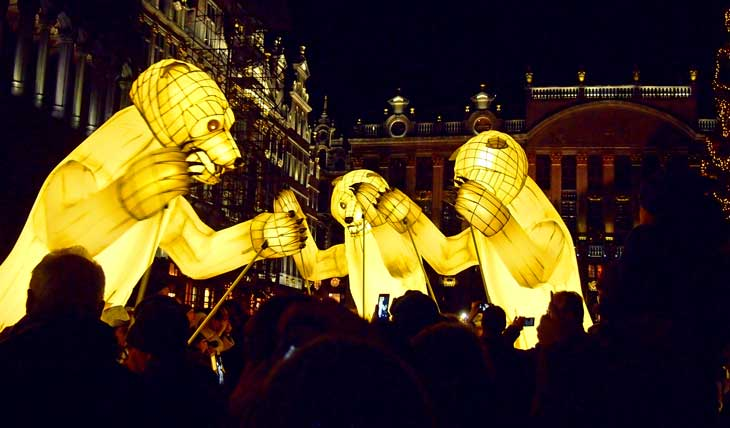 Inauguración de los Mercadillos de Navidad de Bruselas. Foto Marta Pintus.