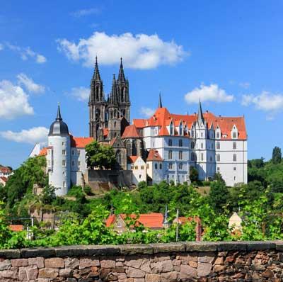 El Albrechtsburg (Castillo de Albrecht) y la Catedral forman una imponente construcción. Foto Daniel Bahrmann.