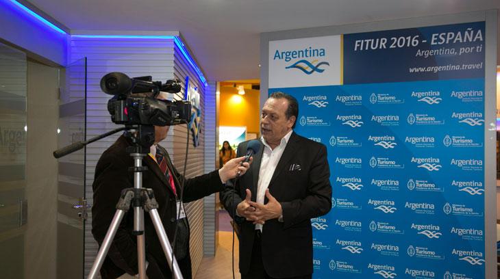 El Ministro de Turismo de Argentina, Gustavo Santos, en la pasada edición de Fitur 2016