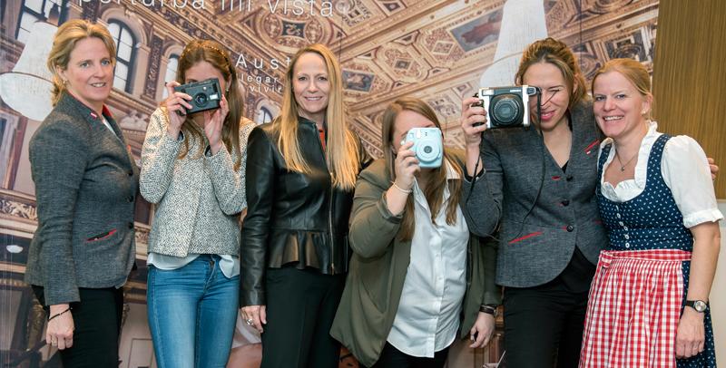 Miembros del equipo de Turismo de Austria durante la presentación de sus novedades en Barcelona. Foto © Nuria Cugat.