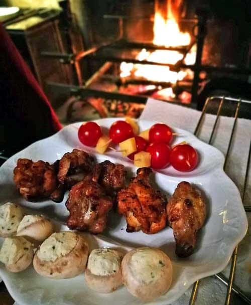 Cena exquisita en la Chambre d'Hôtes Le Puy Marot © Juan Coma