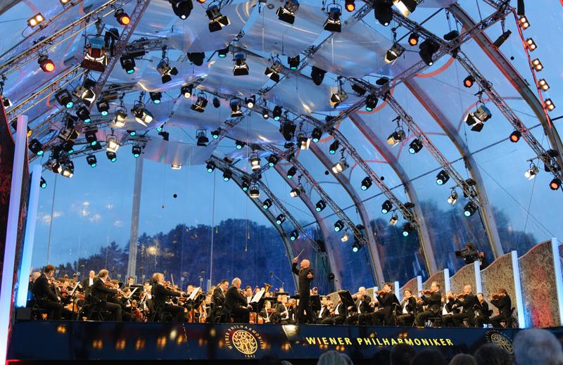 Concierto de una Noche de Verano de la Orquesta Filarmónica de Viena a cargo del director de orquesta Christoph Eschenbach © Terry Linke