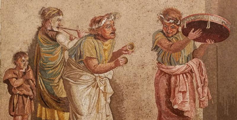 Mosaico del Museo Arqueológico Nacional de Nápoles